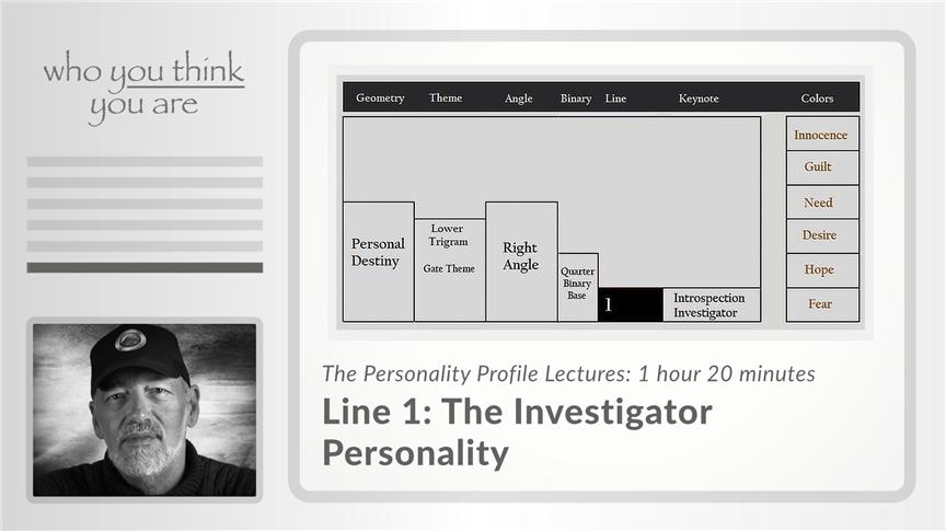 Line 1 - The Investigator Personality