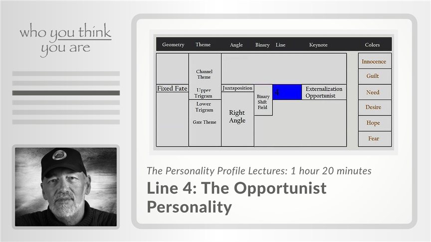 Line 4 - The Opportunist Personality