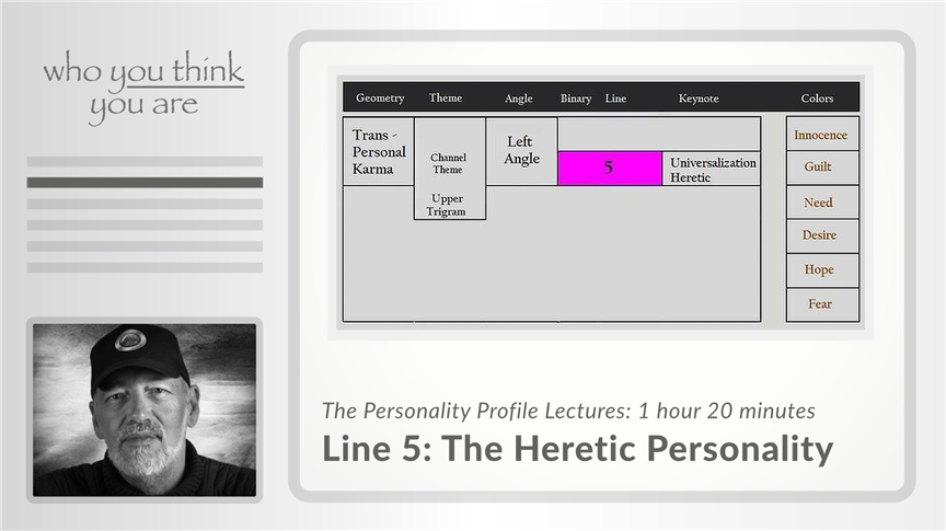 Line 5 - The Heretic Personality
